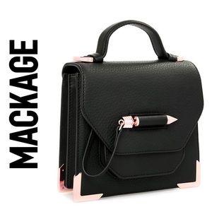 Mackage Rubie Top Handle Gold Arrow Bag EUC